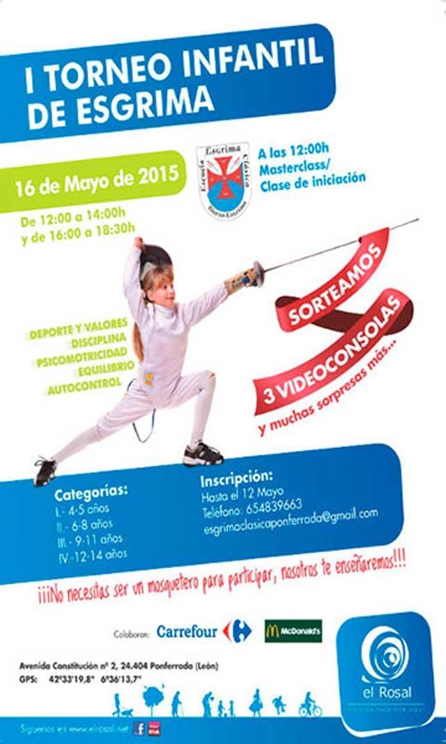 I Torneo de Esgrima en el CC El Rosal. 16 de mayo 1