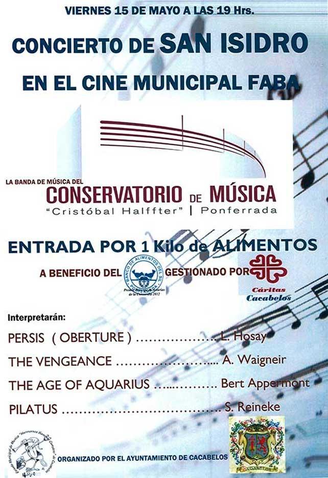 Concierto de SAN ISIDRO en el Cine Municipal Faba 1