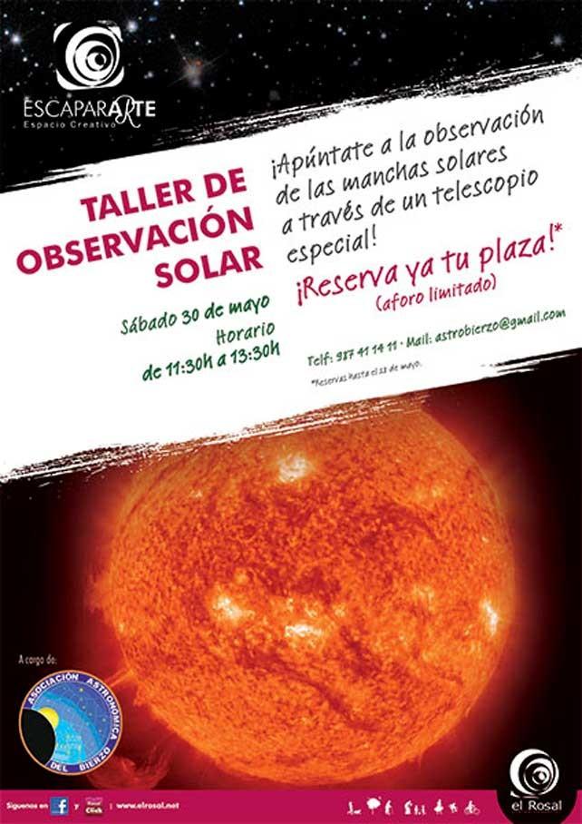 Taller de Observación Solar en el CC El Rosal. Sábado 30 de Mayo 1
