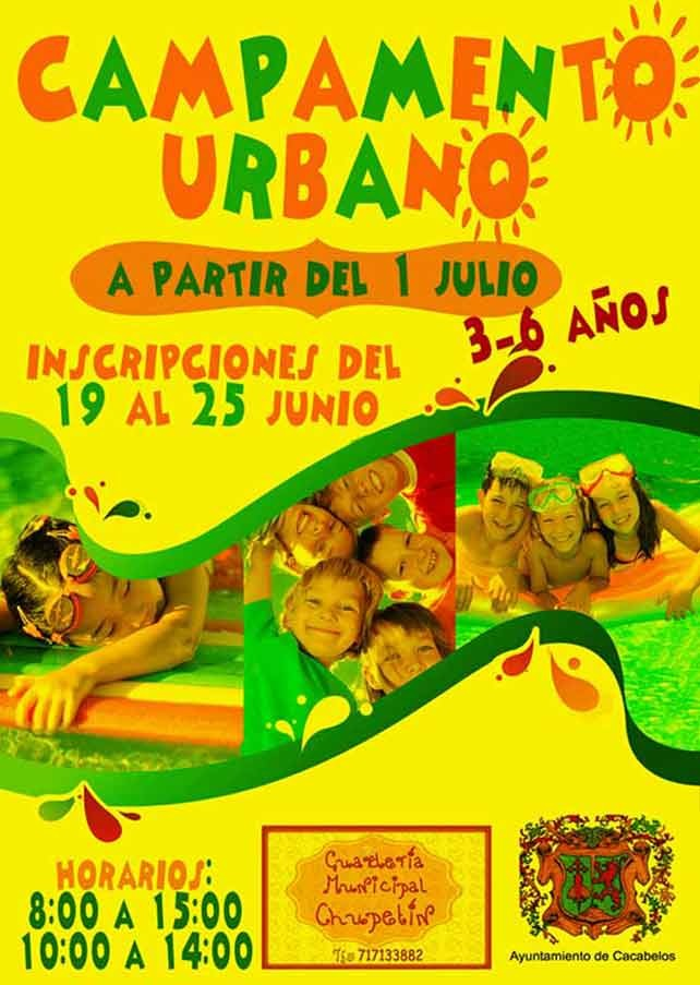 Campamento Urbano en Cacabelos a partir del 1 de julio 1