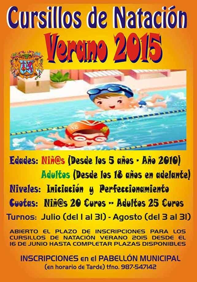 Cursillos de natación en Cacabelos verano 2015 3