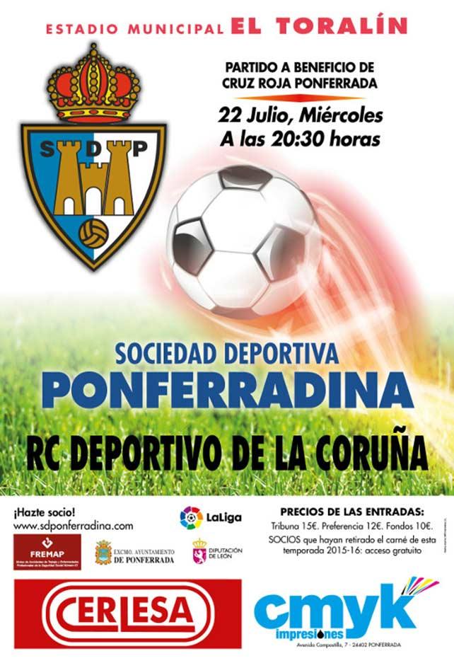 Partido amistoso S.D. Ponferradina - RCD Deportivo de la Coruña 1
