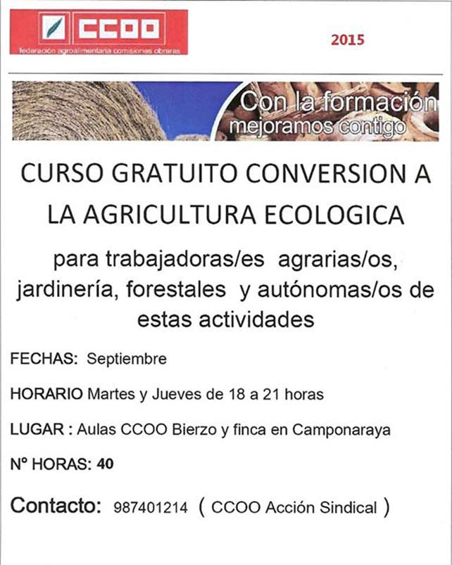 Curso gratuito de conversión a agricultura ecológica 1