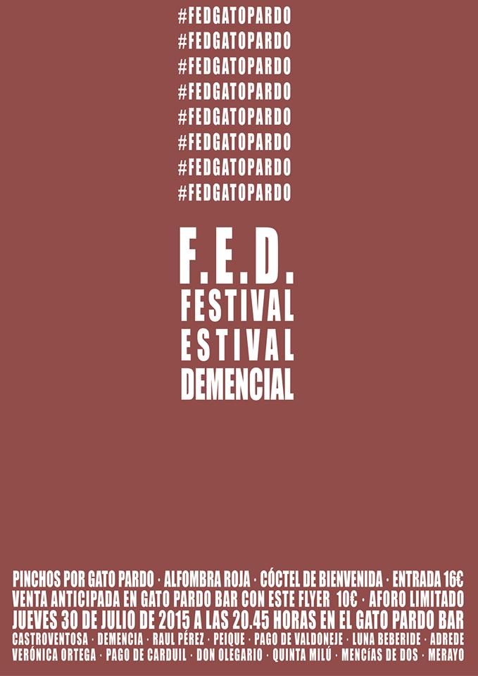 F.E.D. Festival Estival Demencial en Gatopardo Bar 1