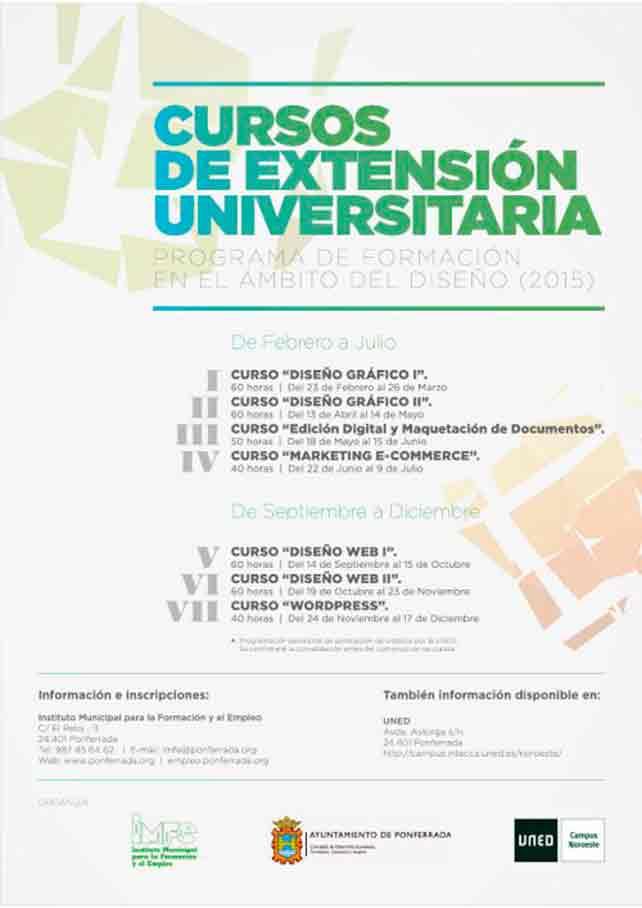 Programa de Formación 2015 dirigido al ámbito del Diseño 1