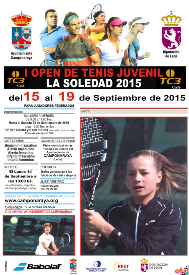 I Open de tenis juvenil. LA SOLEDAD 2015 en Camponaraya 1