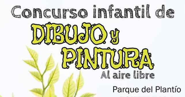Concurso infantil de dibujo y pintura al aire libre en el Plantio 1