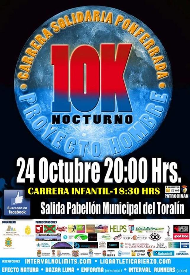 10 Km Nocturno 2015. Carrera solidaria Proyecto Hombre Ponferrada 1