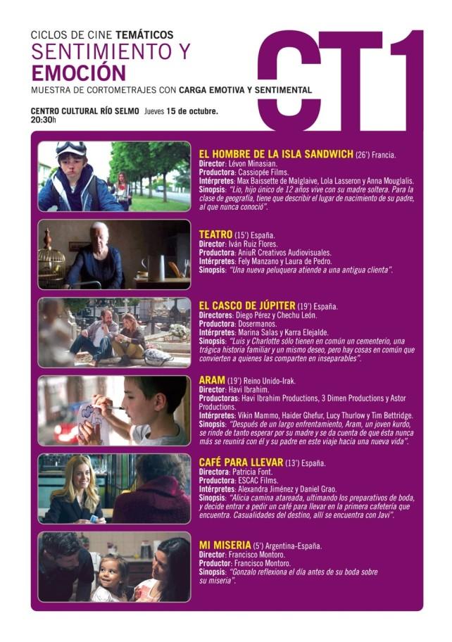 Festival de cine de Ponferrada. Jueves 15 ciclo temático: Sentimientos y emoción 1