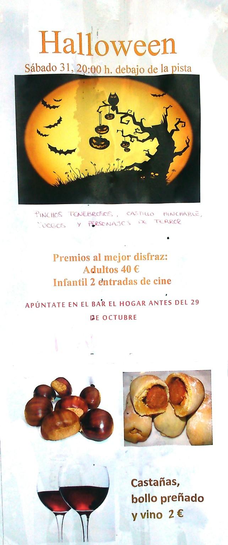 31 de octubre magosto + fiesta Halloween en Torre del Bierzo 1