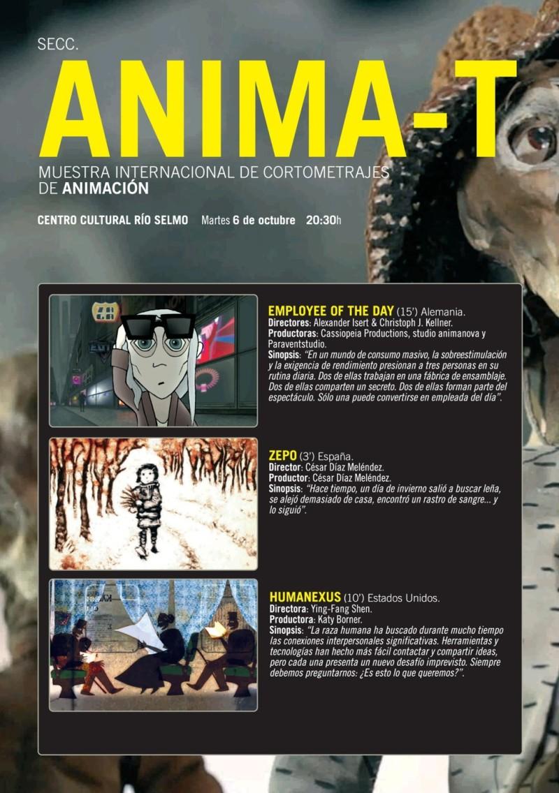 Festival de Cine de Ponferrada. Martes 6: Anima-t, muestra de cortos de animación 1