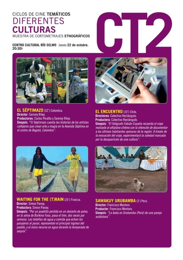Ciclos de cine temático: Jueves 22, Diferentes culturas 1
