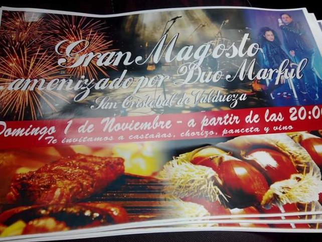 Magosto en San Cristobal de Valdueza. 1 de noviembre 1