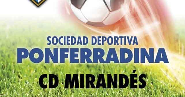 Fútbol: Ponferradina - Mirandés 1