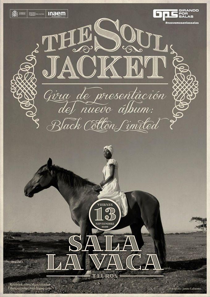 Viernes 13 de noviembre, The Soul Jacket en concierto en Sala La Vaca 1