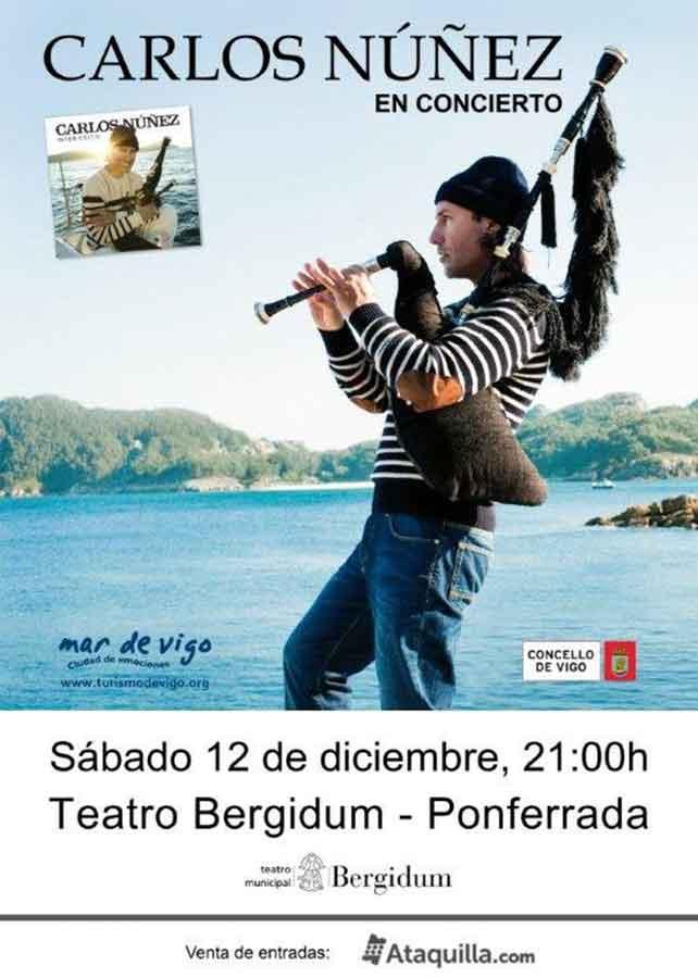 Carlos Núñez en el Bergidum, 12 de diciembre. 1