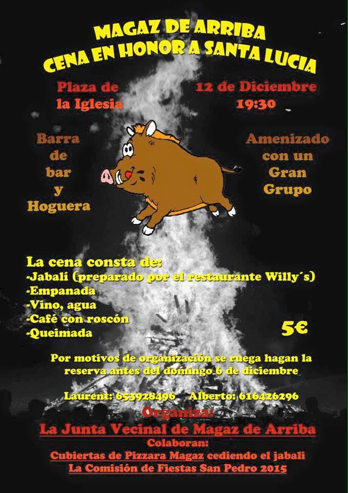 Magaz de Arriba celebra cena en honor a Santa Lucía 1