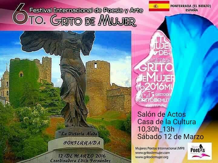 Convocatoria: Festival Grito De Mujer 2016. Ponferrada. 10