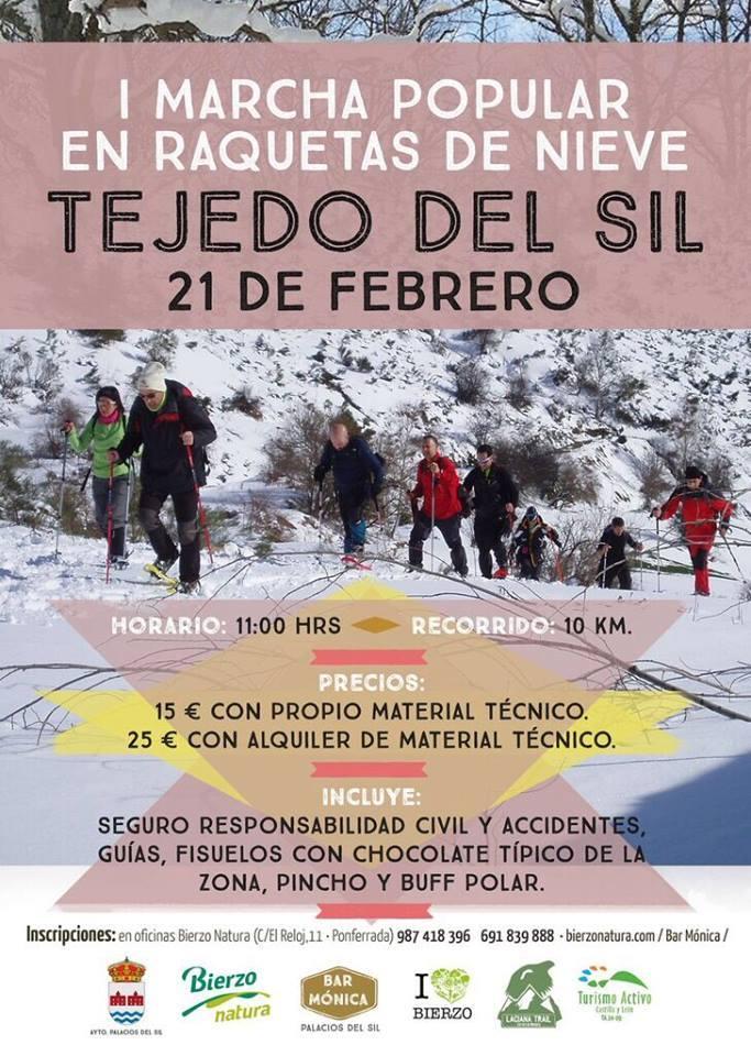 I marcha popular en raquetas de nieve en Tejedo del Sil 1