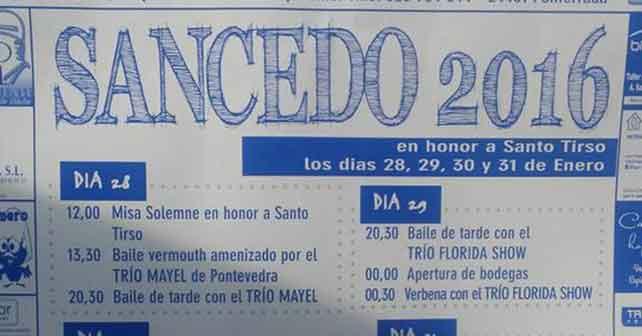 Fiestas en honor a Santo Tirso en Sancedo 3