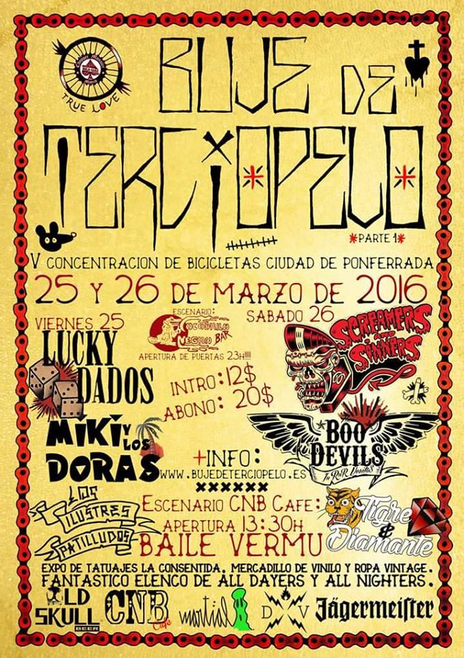 Festival Buje de terciopelo. V Concentración de bicicletas ciudad de Ponferrada (Y un poquito de Rock & Roll) 1