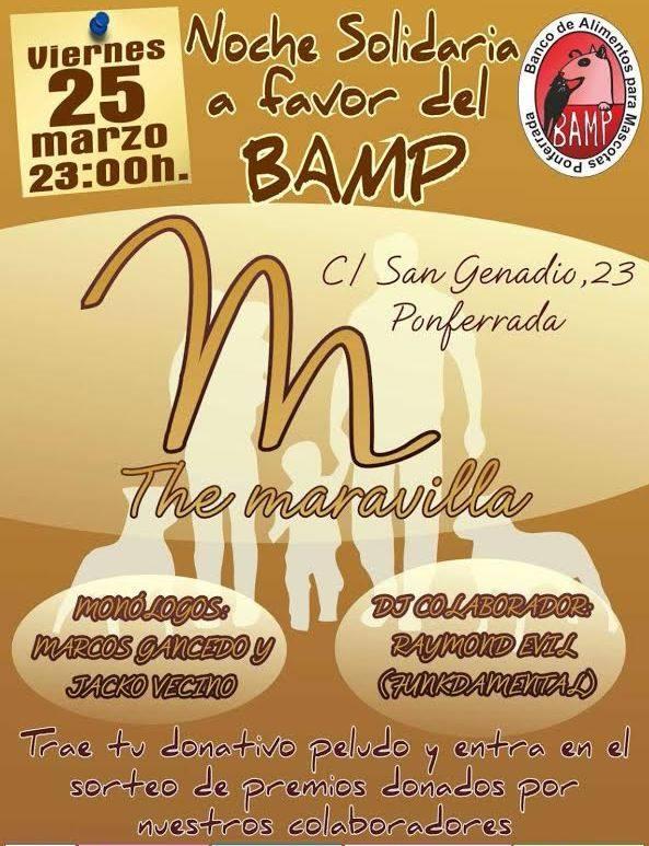Noche solidaria a favor del BAMP 1