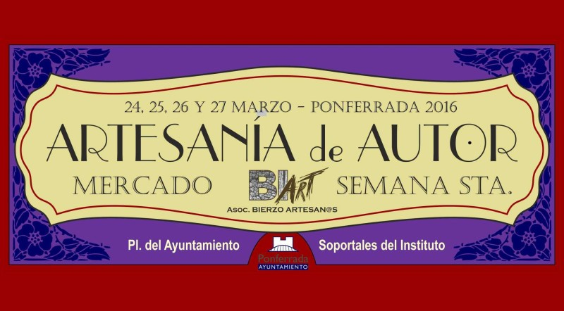Mercado de Artesanía de Semana Santa Ponferrada 2016 1
