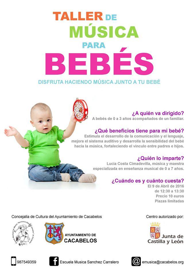 Música para bebés en la escuela de música de Cacabelos 1