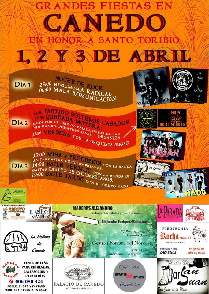 Grandes fiestas en Canedo del 1 al 3 de abril 1