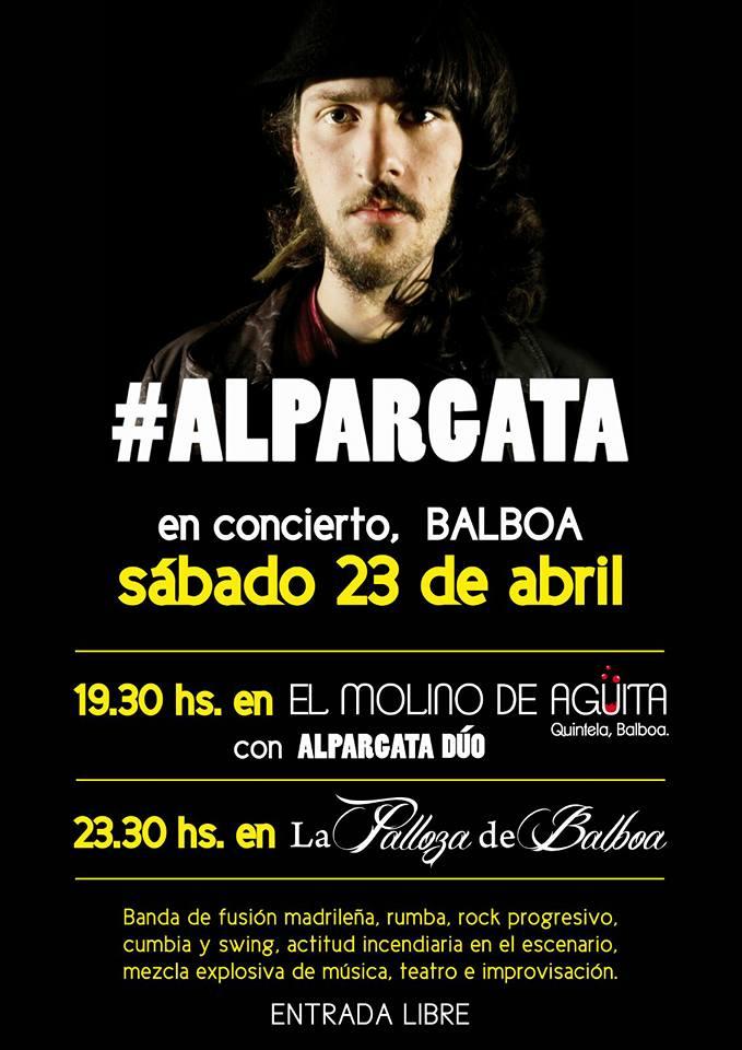 Rumba y fusión en La palloza de Balboa con #alpargata el sábado 23 de abril 1