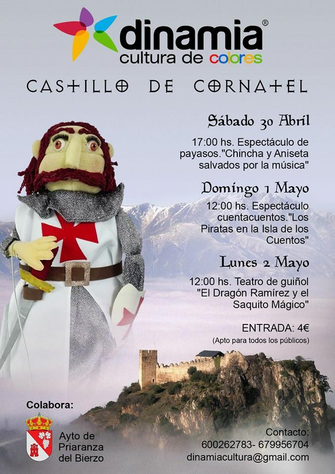 El castillo de Cornatel programa actividades en amilia para el puente de mayo 3