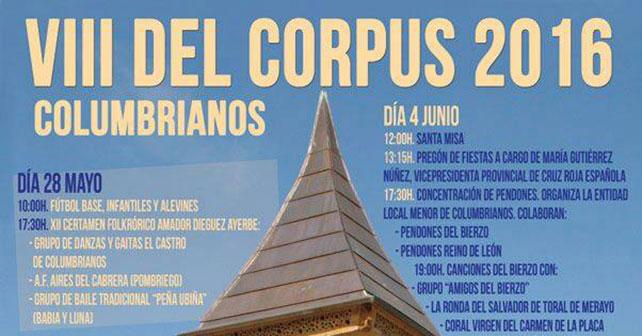 VIII Fiestas del Corpus en Columbrianos. programa 9