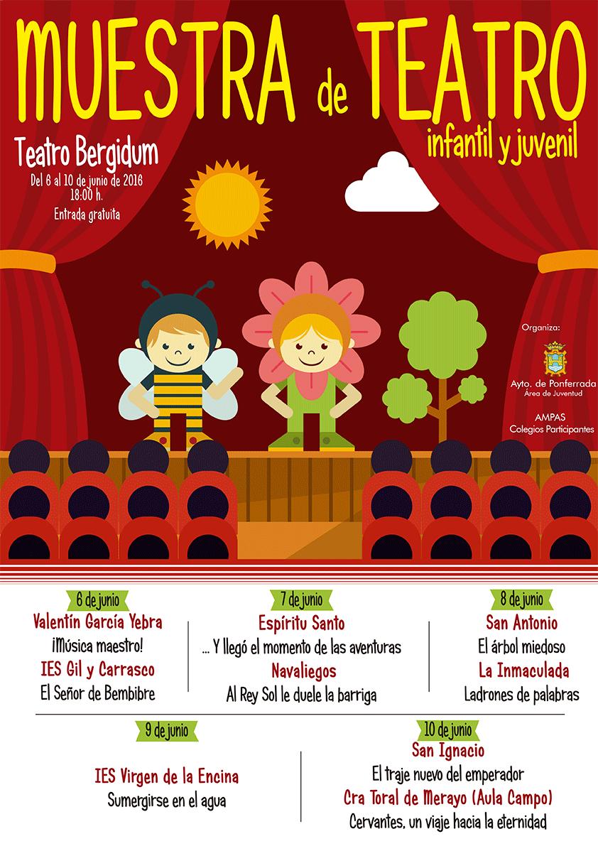 Muestra de Teatro Escolar en el teatro Bergidum. 6 al 10 de junio 1