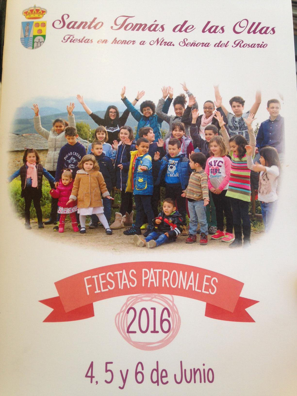 Programa de Fiestas en honor a nuestra señora del Rosario en Santo Tomas de las Ollas 4, 5 y 6 de junio. 8