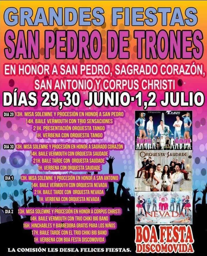 Fiestas en San Pedro de Trones 1