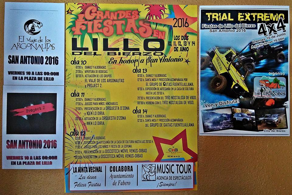 Fiestas en Lillo Del Bierzo San Antonio 2016. Programa completo 6