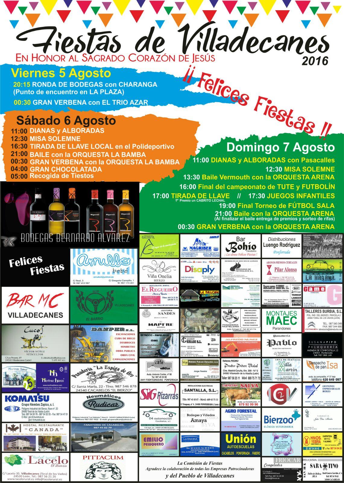 Fiestas en Villadecanes. 5, 6 y 7 de agosto 1