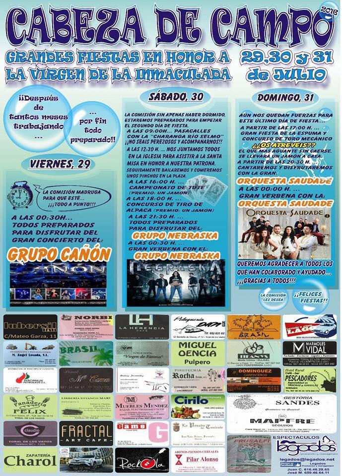 Fiestas en Cabeza de Campo 1