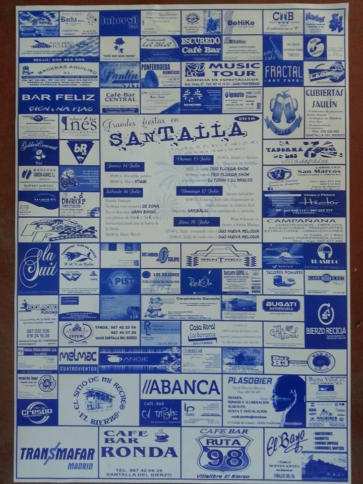 Fiestas en honor a Santa Marina 2016 en Santalla del Bierzo. Programa 1