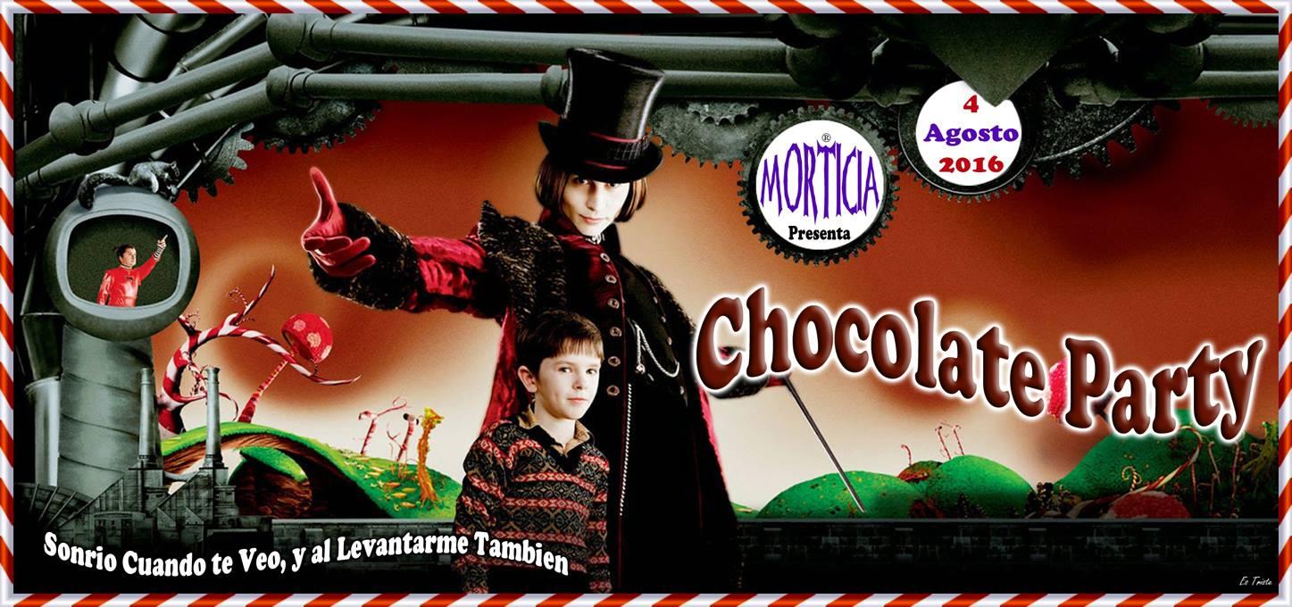 Chocolate Party, Morticia prepara una fiesta muy dulce para el 4 de agosto 1