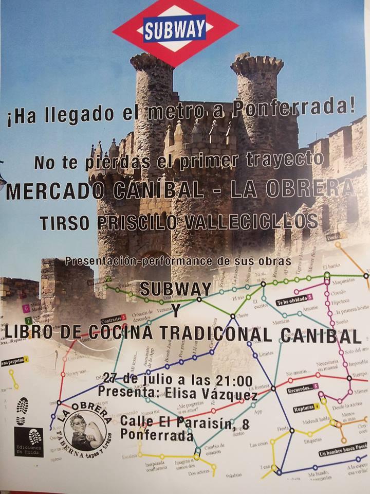 Mercado Canibal.-subway y libro de cocina tradicional canibal 1