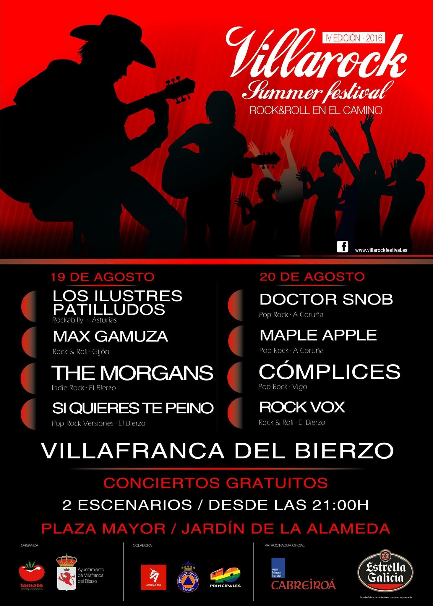 En Agosto llega el Villarock Festival a Villafranca del Bierzo 1