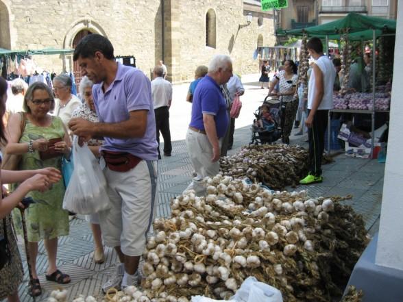El domingo fería anual del ajo en Bembibre 1