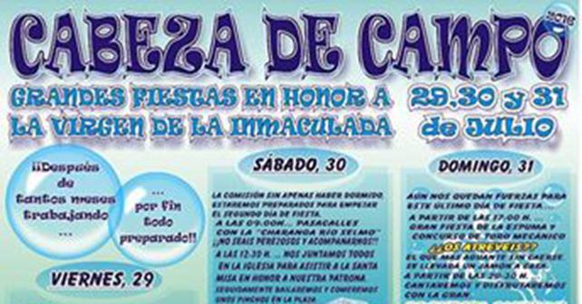 Fiestas en Cabeza del Campo 1