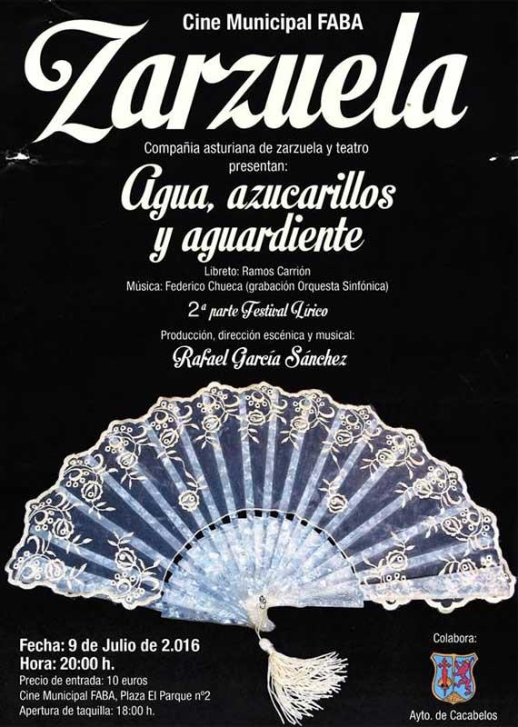 Zarzuela en el Cine Faba de Cacabelos 1