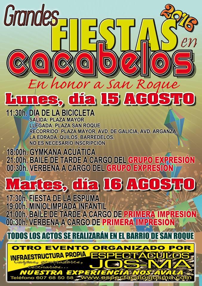 Grandes Fiestas de San Roque 2016 en Cacabelos 1