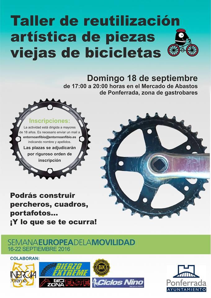 Semana de la Movilidad: Taller de reutilización artística de piezas viejas de bicicletas 1