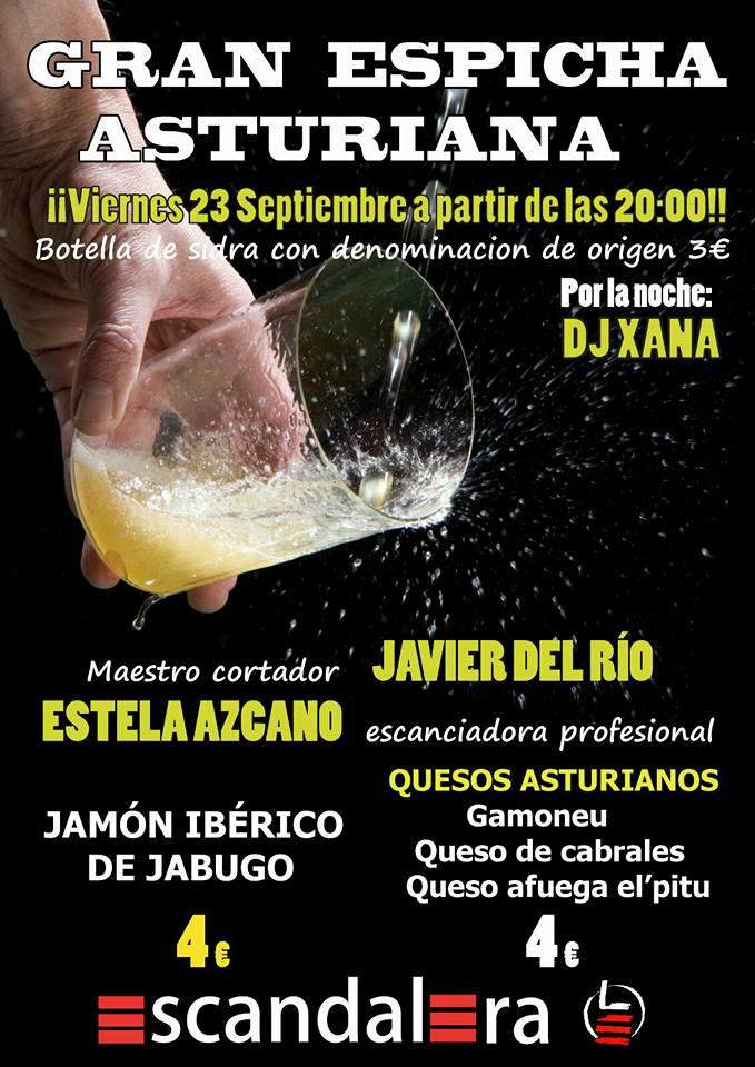 La Escandalera prepara una gran espicha asturiana para el viernes 23 1