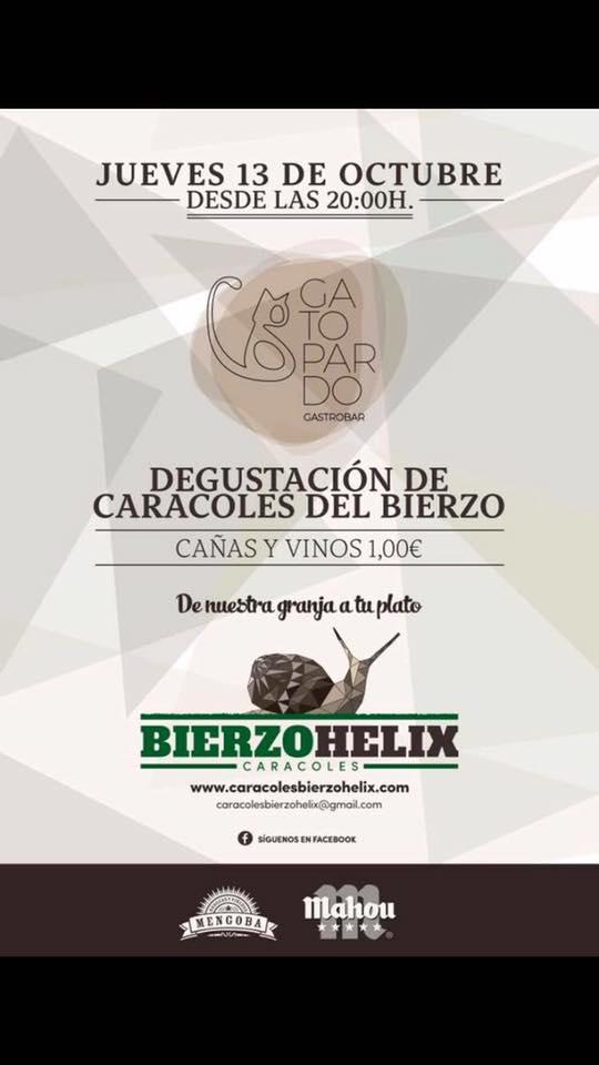 Degustación de caracoles de la granja Bierzo Helix en el Gatopardo 1