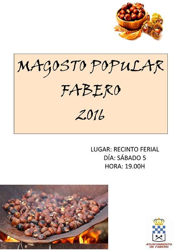 Magosto en Fabero para el sábado 5 de noviembre 1